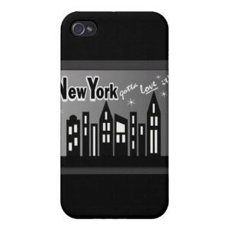 New York--Gotta Love It! With Cute Buildings Covers For iPhone 4