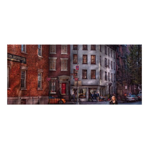 New York - Greenwich Village - Northern Dispensary Personalized Rack Card