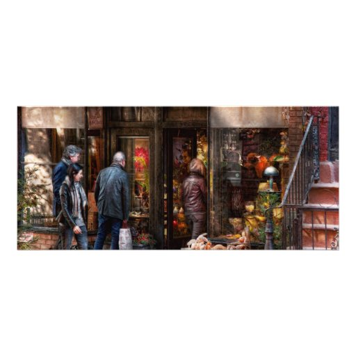 New York - Greenwich Village - The gift shop Rack Card Template