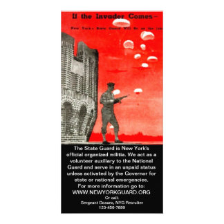 New York Guard Recruiting Pamphlet Personalised Photo Card