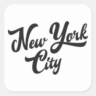 New York Handwritting Square Sticker