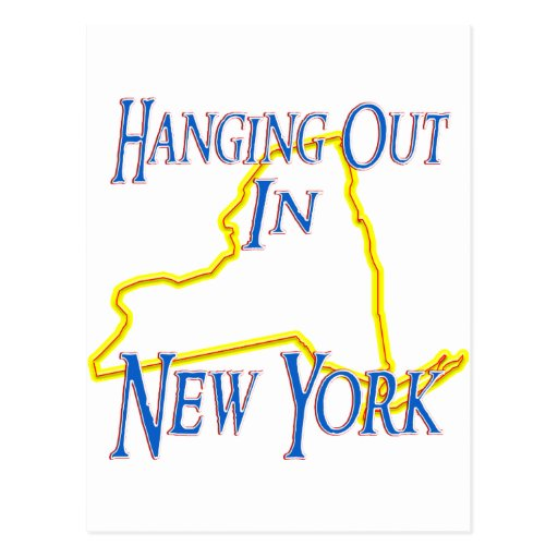 New York - Hanging Out Postcards