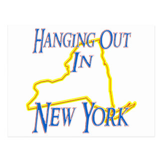 New York - Hanging Out Postcard