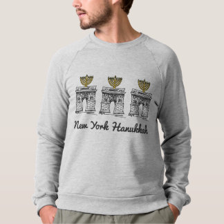 New York Hanukkah NYC Arch Menorah Sweatshirt