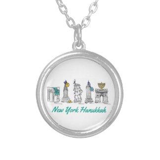 New York Hanukkah NYC Landmarks Chanukah Necklace