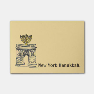 New York Hanukkah NYC Menorah Holiday Post-Its Post-it® Notes