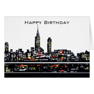 New York Happy Birthday Card