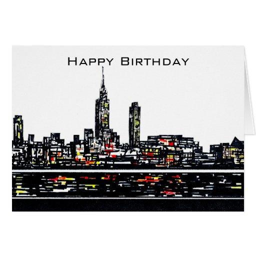 New York Happy Birthday Card Zazzle