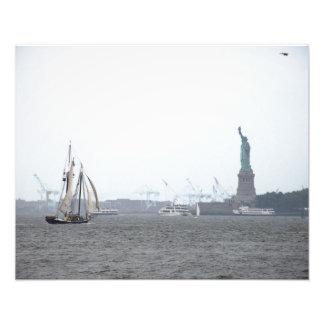 New York Harbor in Fog Photo Art