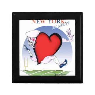 new york head heart, tony fernandes small square gift box