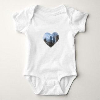 new york heart baby bodysuit