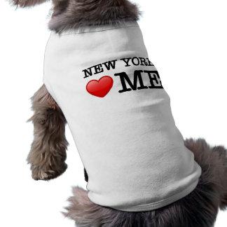 New York heart me Sleeveless Dog Shirt