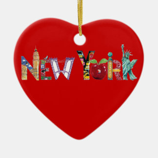 New York Heart Ornament