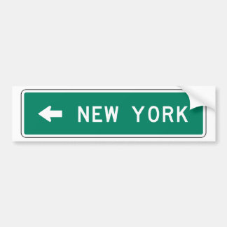 New York Highway Sign Bumper Stickers