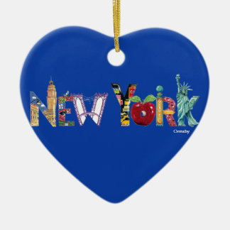 New York Holiday Ceramic Ornament