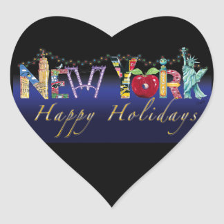 New York Holiday Sticker