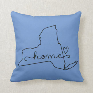 New York Home State Love, Movable Location Heart Throw Cushions