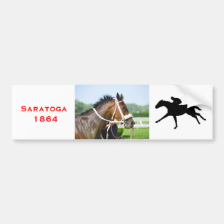 New York Horse Racing Bumper Sticker