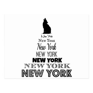 New York Howling, Dog Coyote, Wolf - I love NY Postcard