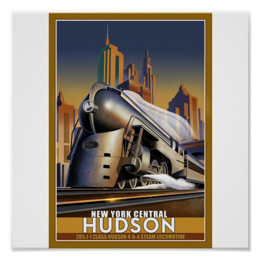New York Hudson Loco Poster