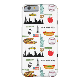 New York Icons Pattern by Orchard Three Barely There iPhone 6 Case