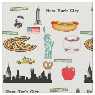 New York Icons Pattern by Orchard Three Fabric