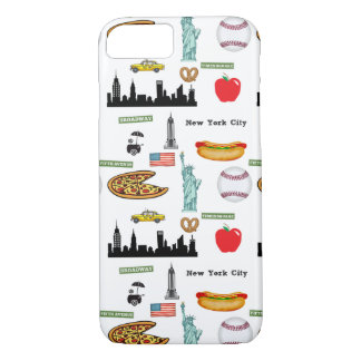 New York Icons Pattern by Orchard Three iPhone 8/7 Case