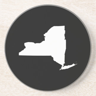 New York in White and Black Coaster