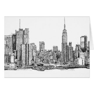 New York ink drawings Cards