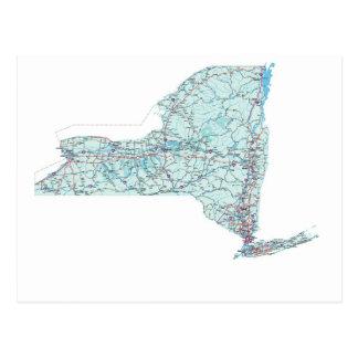 New York Interstate Map Postcard
