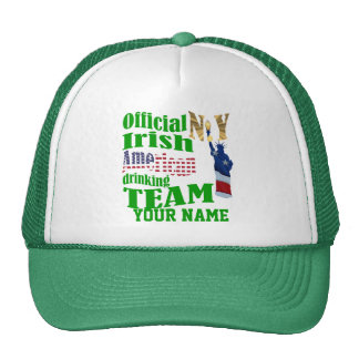 New York Irish American St Patrick's Trucker Hat