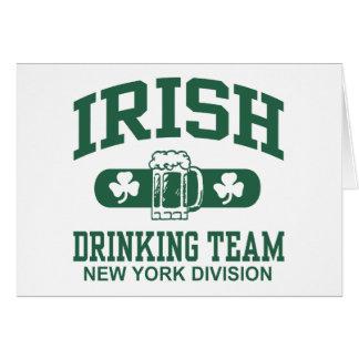 New York Irish Drinking Team Greeting Card