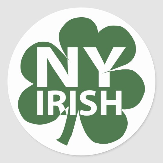 New York Irish Shamrock Classic Round Sticker