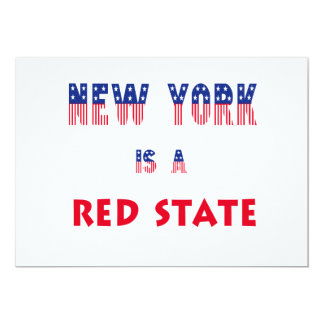 New York is a Red State Personalized Invitations