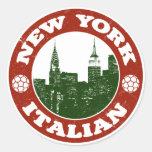 New York Italian American Round Sticker