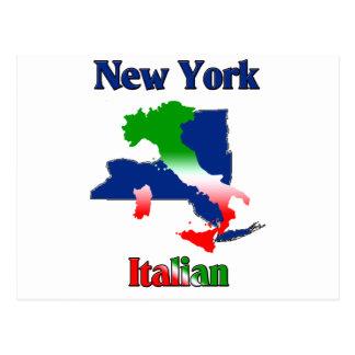 New York Italian Postcard