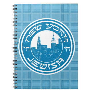 New York Jewish Notepad Notebook