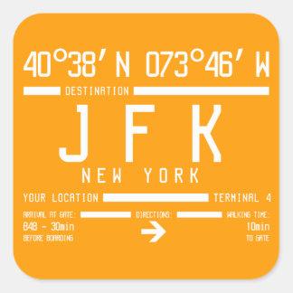 New York JFK International Airport Code Square Sticker
