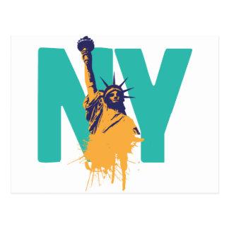 New York Lady Liberty Postcard