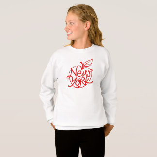 New York lettering design. Big apple. NYC. Sweatshirt