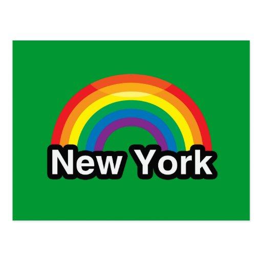 NEW YORK LGBT PRIDE RAINBOW POSTCARD