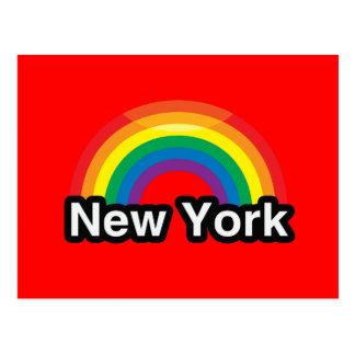 NEW YORK LGBT PRIDE RAINBOW POST CARD