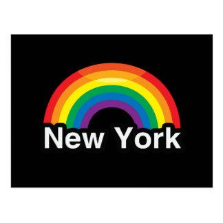 NEW YORK LGBT PRIDE RAINBOW POST CARDS