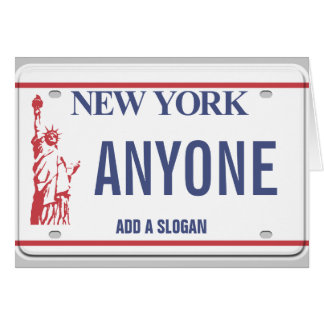New York License Plate (personalised) Card