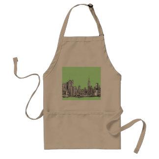 New York lime green Standard Apron