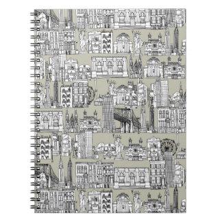 New York / linen Notebook