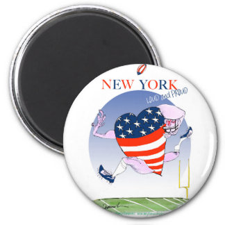 new york loud and proud, tony fernandes 6 cm round magnet