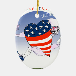 New York Loud and Proud, tony fernandes Ceramic Oval Decoration