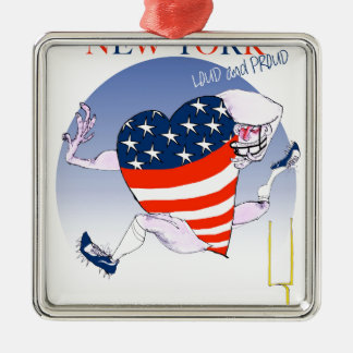 New York Loud and Proud, tony fernandes Silver-Colored Square Decoration