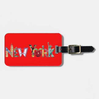 New York luggage tag
